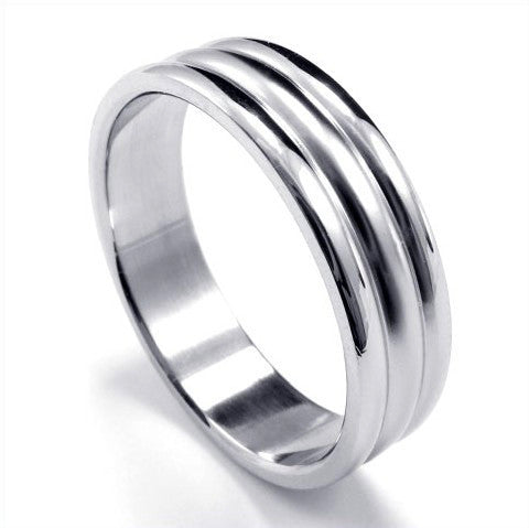 Instant Smooth Shaped Titanium Steel Ring