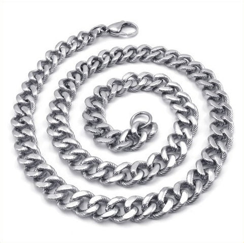 Titanium Steel Chain Silver Color Necklace for Men's Style