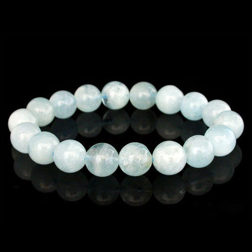 Natural Crystal Beads Aquamarine Bracelet Jewelry