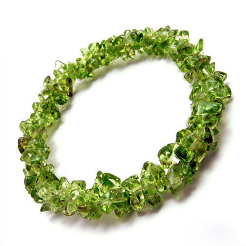 Natural Olivine Crystal Flower Bracelet Jewelry