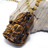 Jewelry Pendant Crystal Tiger Eye Guan Natural Stone