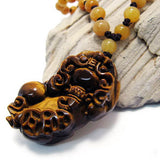 Natural Tiger Eye Lucky Pendant Necklace Jewelry Crystal