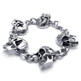 Titanium Steel Skull Links Bracelet
