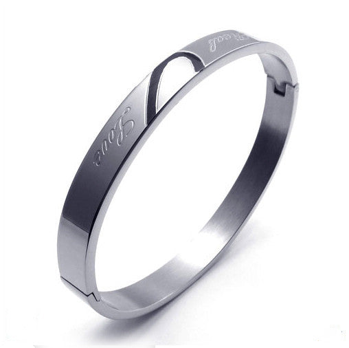 Titanium Steel Couple Love Bracelets-Gender Female