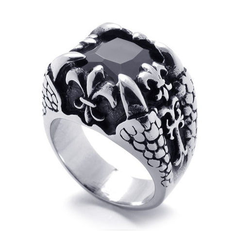Men or Women's Couples Jewelry Wild Dragon Claw Titanium Steel Ring
