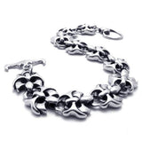316L Titanium Steel Linked Bone Chain Bracelet for Men's Fashion Jewelry