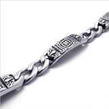 316L Titanium Steel Men's Retro Styled Bracelet for Gothic Type Fashion