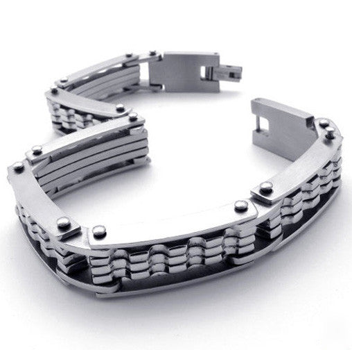 Chain Link Titanium Steel 316L Bracelet for Men's Jewelry & Style