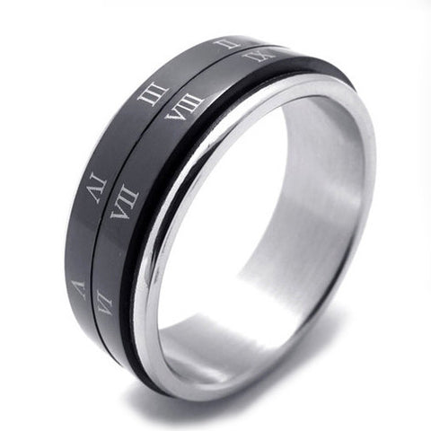 Woman's & Men's Fashionable Titanium 316L Steel Ring Jewelry Accessory-Size 8