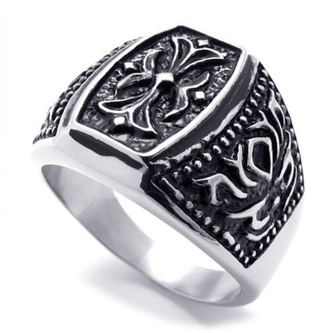 Fashionable Sectioned Titanium Steel Ring for Men & Woman's Accessories