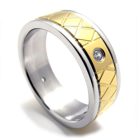 Jewelers Couples Titanium Steel Fashionable Ring Jewelry