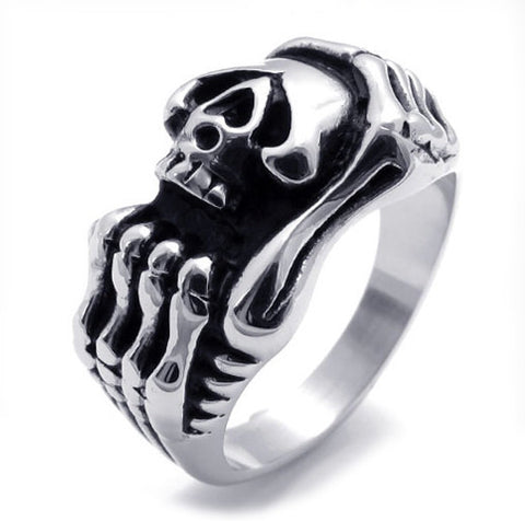 Men & Woman's Titanium Steel Skull Fashionable Ring Accessory-Size 8