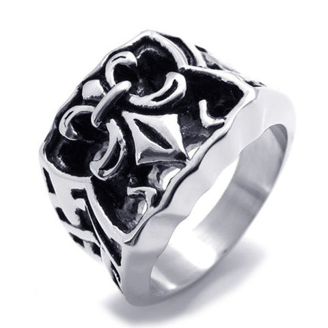 Fashionable Men's Titanium Steel ring 316L Grade Jewelry-Size 8