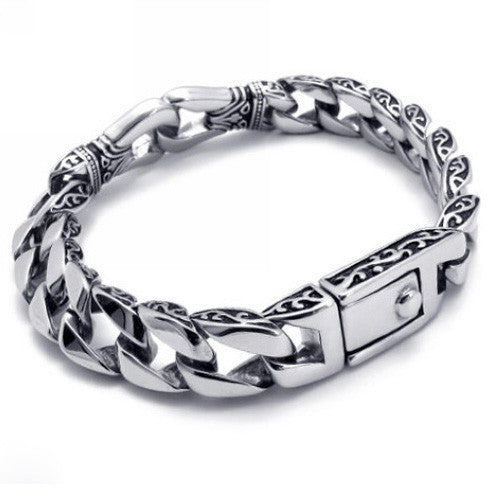 Titanium Steel Men's Chain Bracelet 316L Quality