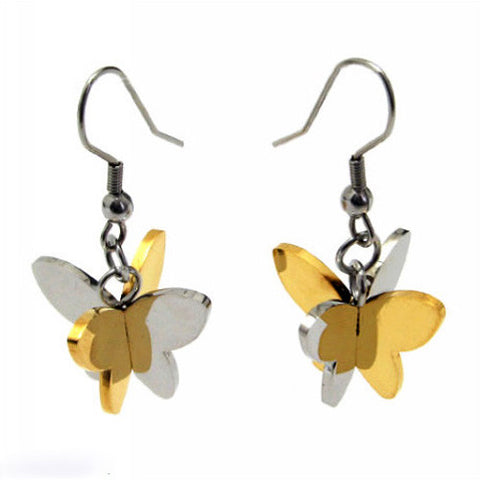 Titanium Earrings 316L Steel Quality Jewelry-Color Golden