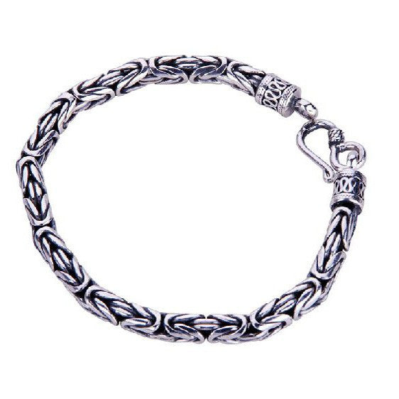 Thai Silver Bracelet Men's Cool Jewelry Modern Jewelers Designs (0.5cm DIAMETER)