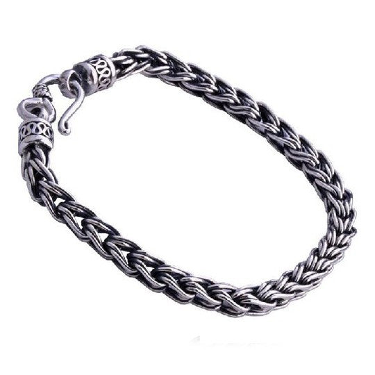 Thai Silver Hemp Jewelry Braided Rope Strand Bracelet Jewelers