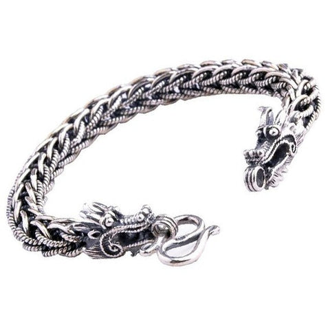 Braided Thai Silver Thailand Jewelers Bracelet for Men's Cool Jewelry
