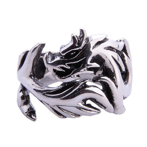 Chinese Dragon Totem Ring for Men's Fashion Jewelry .925 Thai Silver Jewelers