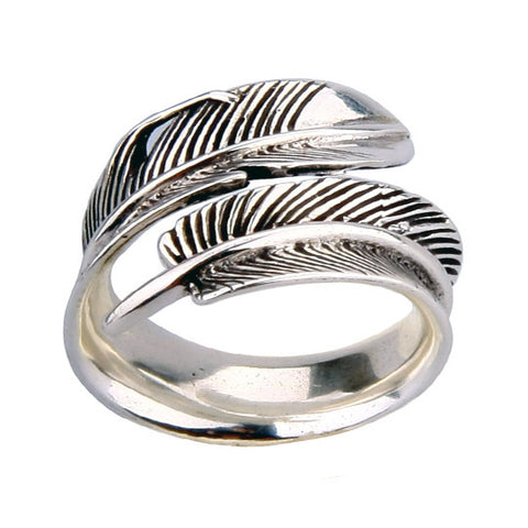 Eagle Feather Ring Clasp Design Men's & Women's Fashion Jewelry Designs