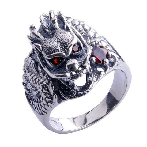 Dominating Dragon King's Ring Men's Styles .925 Silver Jewelry Fashion