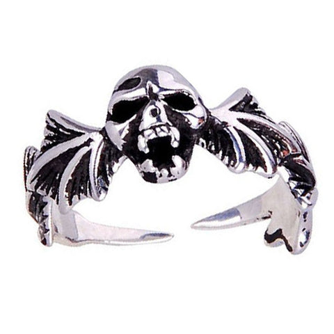 .925 Silver Skull Ring w/ Bottom Opening for Men's Jewelry Fine Jewelers