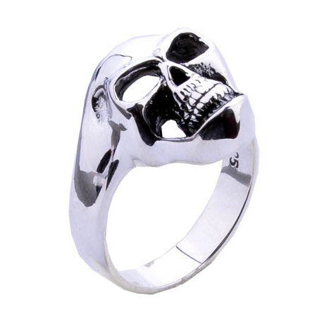 .925 Silver Ring Skull Design for Guy's Fashion Men's Styles-Size 8