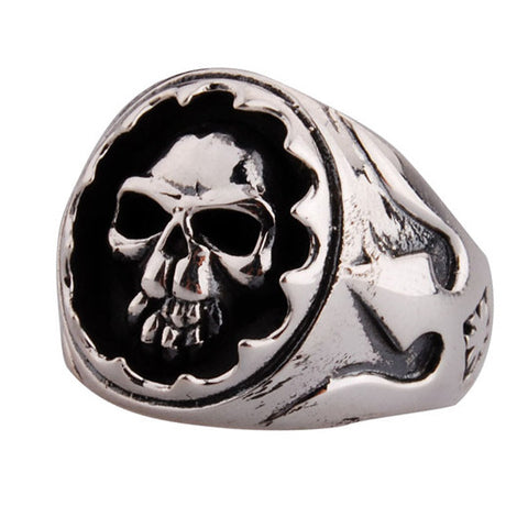 Guy's Ring Silver .925 Skeleton Styled Jewelry for Men's Fashion