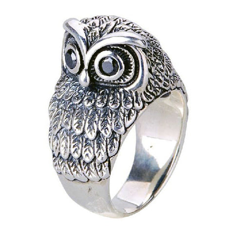 Birds of the Sky Owl Ring .925 Silver Jewelry for Men's Styles & Apparel
