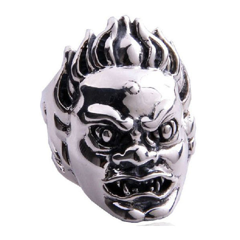 Demon Head Ring Lord of the Rings Styled Jewelry .925 Silver for Men