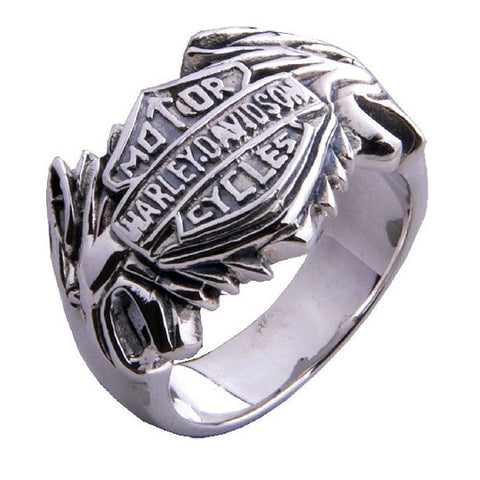 Harley Davidson Ring Motor Cycle Jewelry for Men's Fashion