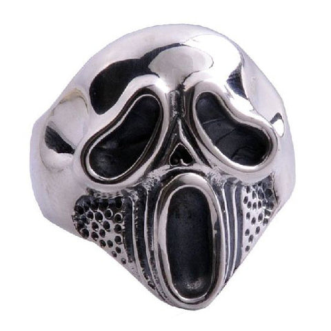 Hard Core Screaming Skull Ring .925 Silver Jewelry for Men