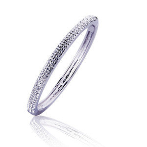 Austrian Imported Diamond Plated Alloy Platinum Bracelet Silver Jewelry