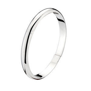 Glossy Jewelry for Girls Fashion Silver Smooth Bracelet for Women