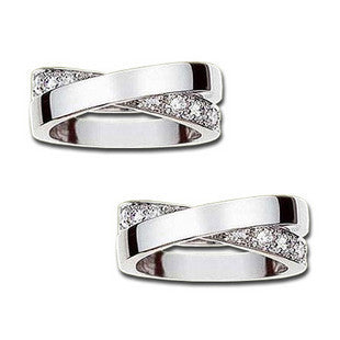 .925 Sterling Silver Couples Rings Zirconium Diamond Ring Jewelry-Size 5