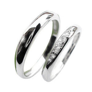 Smooth Silver Couples Rings .925 Sterling for HER Silver Platinum Jewelry