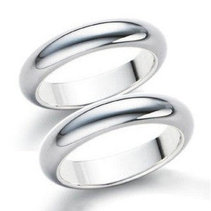 Elegant Glossy .925 Sterling Silver Couples Ring for Men's Fashion Jewelry