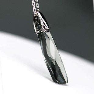 Beautiful Austrian Crystal Gemstone Pendant Women's SILVER CHAIN Necklace