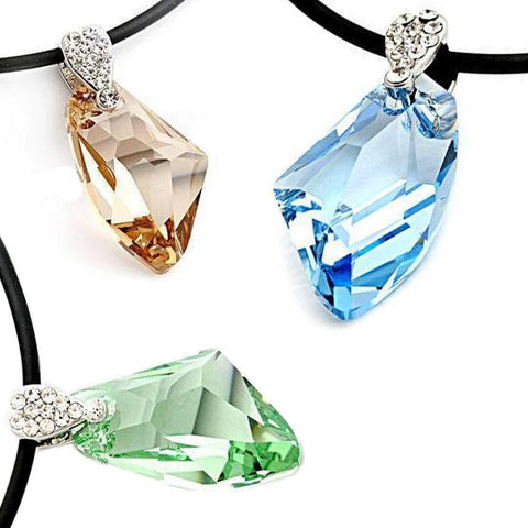 The Galaxy of Love Crystal Necklace Austrian Gemstone Pendant-Color Champagne