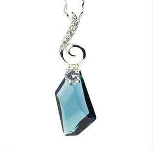 Light Blue Crystal Necklace Wishing Love Austrian Imported Jewelers