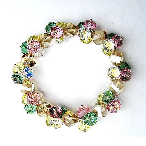 Dreamy Colorful Austrian Imported Crystal Bracelet Fashionable Bangle Style