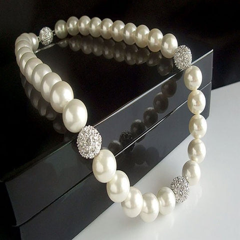 Seashell Pearl Necklace Brides Wedding Jewelry Accessories