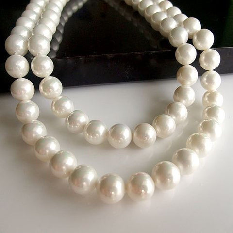 Natural Pearl Bridal Bridesmaid Wedding Seashell Jewelry Gifts Necklace and Earrings-Earring Style Clip