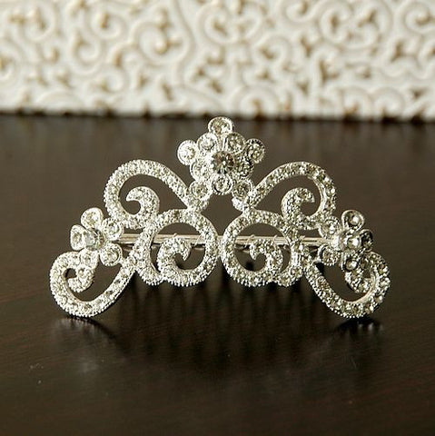 Crown Comb Hair Silver Headdress for Wedding Brides