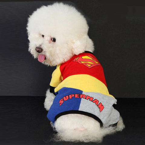 Pet's Superman Outfit Costume for Cute Dog's Clothing