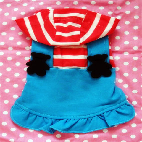 Teddy Bear Lovers Strap Dress for Cute Dog's Clothing