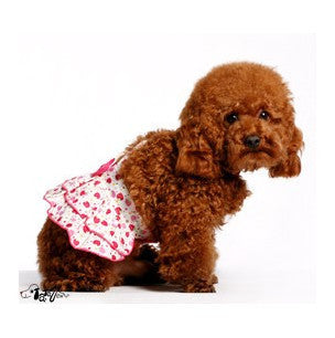 Sweet Strawberry Dress w/ Strap for Cute Dog's Fashion