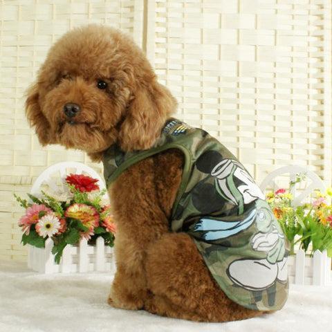Olive Drab Army Styled T-Shirt for Tough Dog's Fashion & Pet Styles