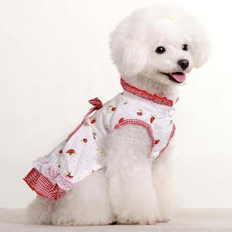 Pet Fashion for Dog's Styled Clothing Mushroom Doll Dress Skirt Apparel