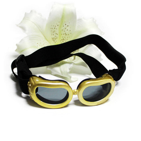 Small Puppy's Dog Sunglasses Apparel Clothing Two Colors-Color Gold